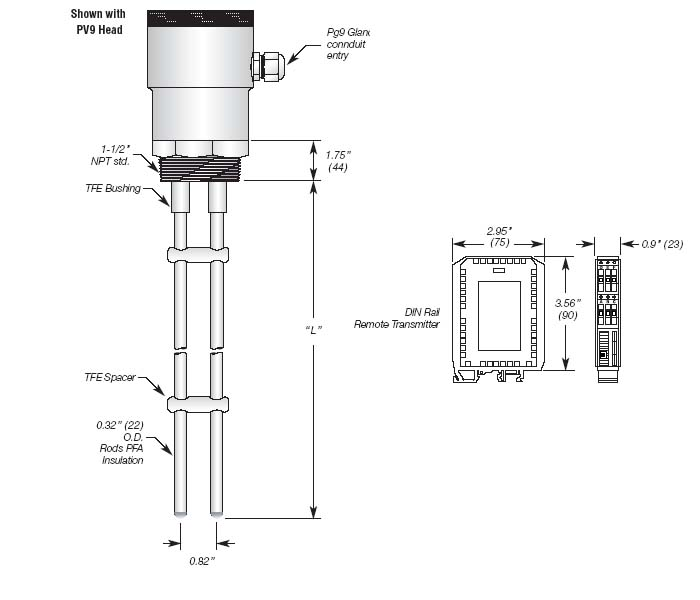 Continuous Capacitance Level Transmitter 4-20mA, Loop Powered Details