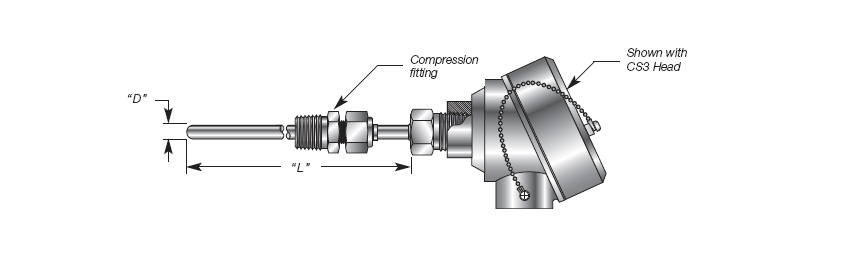 Adjustable Immersion RTD Assembly Details