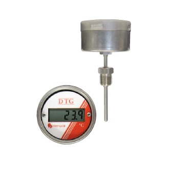 LCD Digital Temperature Indicator, Battery Powered, RTD Sensor Probe, Welded Fitting Picture