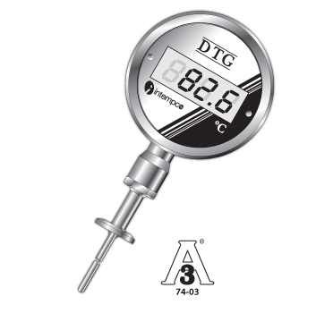 DTG31 Sanitary Probe Digital Temperature Gauge, Programmable 4-20mA Output Picture