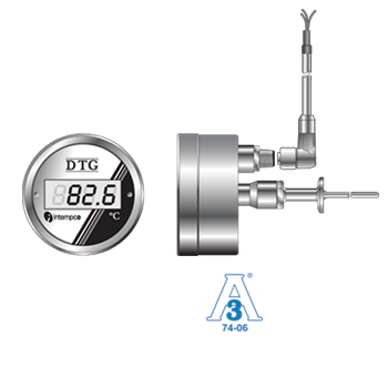 DTG32 Sanitary Probe Digital Temperature Indicator, Programmable 4-20mA Output Picture