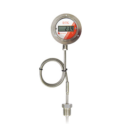LCD Digital Temperature Gauge, Battery Powered, Configurable Remote Sensor Probe, Picture