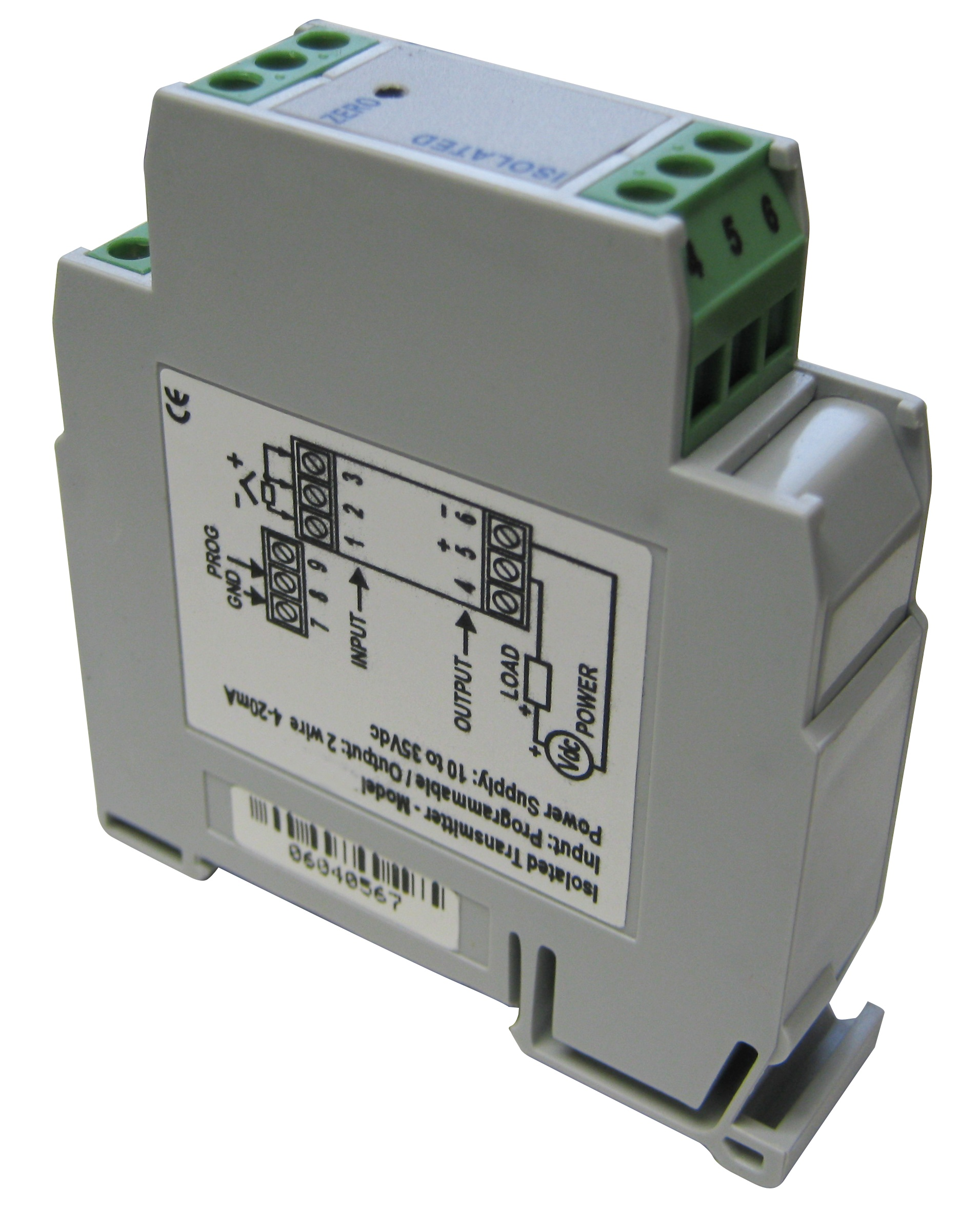 Universal Isolated Programmable Temperature Transmitter w/4-20mA or 20-4mA Output Picture
